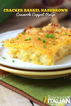 Cracker Barrel Hashbrown Casserole from theslowroasteditalian.com #recipe #copycat
