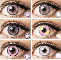 (Pink/Purple) colored Contact Lenses