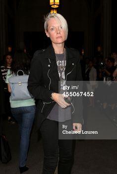 Kate Lanphear attends the Oscar De La Renta fashion show during NYFW S/S 2015