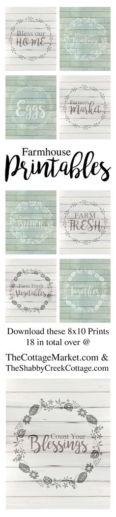 FREE Farmhouse Printables available in 2 colors...these are fun and look amazing!