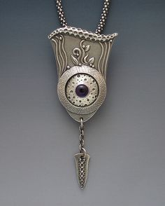 Silver Clay pendant by Gordon K. Uyehara. *He has such a nice sense of design and texture.*