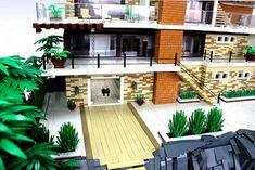 Lego Mansion, Modern Mansion, Modern Houses, Lego Modular, Cool Lego, Awesome Lego, Lego Design, Lego Architecture, Lego Creator