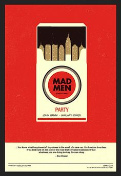 Mad Men Party by Olly Moss