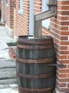 Rain Barrel saves money...