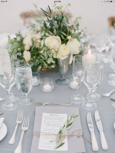 Elegant Table Setting For Wedding Party