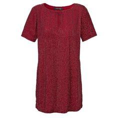 Extravagantes Abendkleid in rot mit Allover-Pailletten-Applikation von MARCIANO GUESS