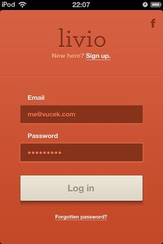 This login UI design is very minimal and non intrusive. Im a big fan of the flat design