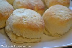 3 Ingredient Cream Biscuits - Mrs Happy Homemaker (homemade buns no egg) Dog Recipes, Bread Recipes, Cooking Recipes, Recipies, Cream Biscuits, Buttermilk Biscuits, Cheese Biscuits, Homemade Buns, Homemade Breads