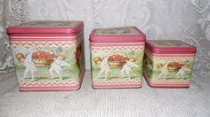 Vintage Enesco angel canister tins set of 3 the by FabulousFinds1, $19.99