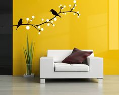 Birds on the Branch Wall Decal Tree Art Stickers - Tree Wall Stickers Free Delivery and Buy 2 Get One FREE Wall Sticker Now! Birds on the Branch Wall Decal Tree Art Stickers - Tree - This wall decal Simple Wall Paintings, Creative Wall Painting, Creative Wall Decor, Creative Walls, Wall Painting Living Room, Wall Painting Decor, Bedroom Wall Designs, Wall Art Designs, Tree Design On Wall