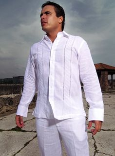 conjunto guayabera para hombre - Buscar con Google Evening Gowns, Chef Jackets, Puerto Rico, Coat, Safari, How To Wear, Google, Fashion, African Outfits