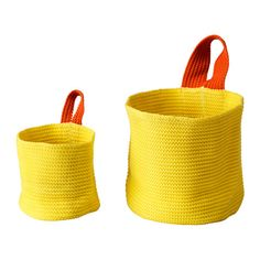 STICKAT Basket, set of 2 IKEA Space-saving baskets that help to keep your children's belongings organised. Easy to hang, thanks to the sewn loop.