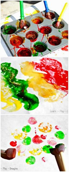 Recipe for homemade scented paint, capturing all the best aromas of fall!  This paint is made from common household items and takes two minutes to prepare.