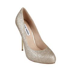 Wedding shoes - MYLEY GOLD GLITTER women's dress high round toe - Steve Madden