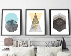 Set of 3 Prints, Minimalist Poster, Geometric, Scandinavian Modern, Scandinavian Print, Minimalist Print, Scandi, Printable, Downloadable THESE ARE INSTANT DOWNLOADS – Your files will be available instantly after purchase. :::: Please note that this is a digital download ONLY,