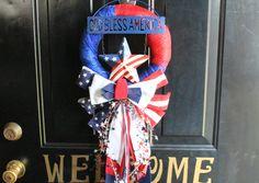 Dollar Store Patriotic Wreath