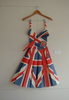 Paper dress to represent the 2012 London Olympics!