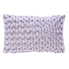 Coussin fausse fourrure polyester boutons de fleurs CHINEY Street Home