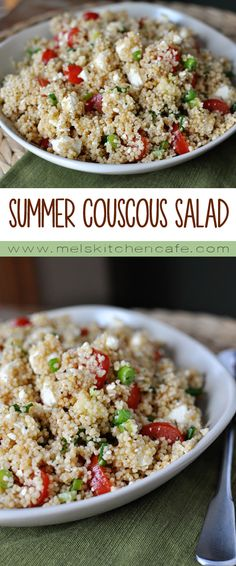 Couscous Salad This Summer Couscous Salad is so fresh and light and perfect with countless grilled dishes.This Summer Couscous Salad is so fresh and light and perfect with countless grilled dishes. Vegetarian Recipes, Cooking Recipes, Healthy Recipes, Delicious Recipes, Healthy Meals, Hallumi Recipes, Hotdish Recipes, Pescatarian Recipes, Cooking Bacon