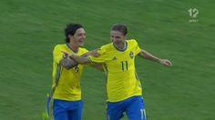 Cibicki firar målet. Foto: TV12