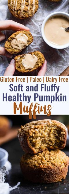 Recipes Snacks Gluten Free Paleo Pumpkin Muffins - These quick and easy, healthy almond flour pumpkin muffins are SO spicy-sweet and FLUFFY! A yummy, fall breakfast or snack that kids or adults will LOVE! Muffins Sans Gluten, Paleo Pumpkin Muffins, Almond Flour Muffins, Clean Eating Pumpkin Muffins, Recipes With Almond Flour, Vegan Muffins Gluten Free, Almond Flour Desserts, Vegan Gluten Free Breakfast, Gluten Free Pumpkin Bread