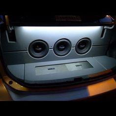 The trunk. car audio pimp my ride loud setup installs kickass awesome