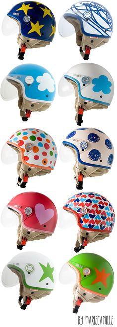 Les casques Agatha Ruiz de la Prada Prada, Agatha, Vespa, Donald Duck, Disney Characters, Fictional Characters, Textiles, My Style, Clothes