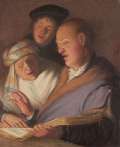 Rembrandt van Rijn, Dutch, 1606-1669, The Three Musicians, about 1624, Oil on panel, The Leiden Collection, New York