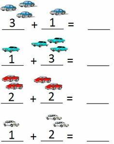 Count And Add Worksheets   Worksheet School Pre K Math Worksheets, Kindergarten Addition Worksheets, Pre Kindergarten, Preschool Learning Activities, Preschool Math, Preschool Printables, Numbers Preschool, Math For Kids, Free Printable