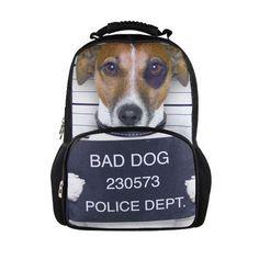 Bad Dog with Black Eye Mug Shot School Backpack