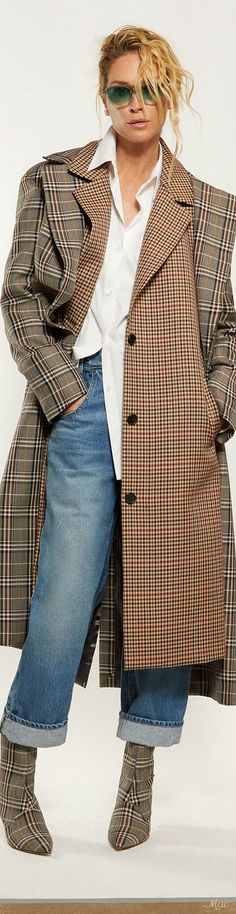 Fall 2018 RTW Monse Fashion Week 2018, Jeans Material, Winter Trends, Tartan, Plaid, Fall 2018, Fashion Outfits, Womens Fashion, Style Me