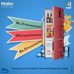With 0% Interest on Finance, buying a #Haier #BottomMountedRefrigerator just got easier!!  #InspiredLiving #Technology #Appliances #Refrigerator