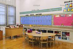 counter/shelves...Kindergarten and First Grade classroom.