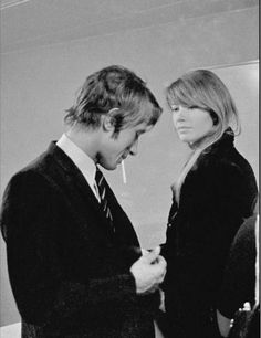 Jacques Dutronc and Françoise Hardy by Giancarlo Botti, 1973