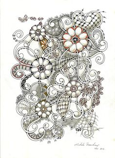 Zentangle Inspired Art by shellybeauch on Etsy, $50.00