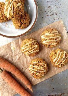 ciastka marchewkowe z płatkami owsianymi i pomarańczą