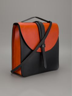 M.hulot Bi Tonal Leather Shoulder Bag - Etre - Vestire - Farfetch.com
