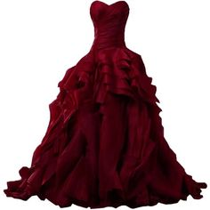 Sunvary Luxurious Burgundy Ball Gown Quinceanera Dresses for Prom with Ruffles and other apparel, accessories and trends. Browse and shop related looks.