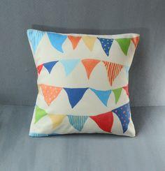 Nursery circus pillow fun colourful bedroom cushion. £22.00, via Etsy.