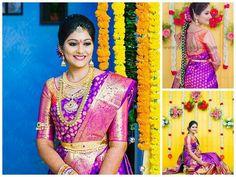 Saree Wedding, Bridal Sarees, Pattu Saree Blouse Designs, Wedding Rituals, South Indian Bride, Half Saree, Work Blouse, Indian Girls, Bridal Collection