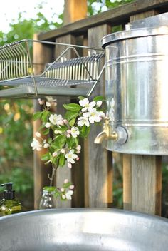 Outdoor Sinks, Outdoor Bathrooms, Red Cottage, Cozy Cottage, Allotment Gardening, Garden Paving, Mud Kitchen, Composting Toilet, Outdoor Spaces