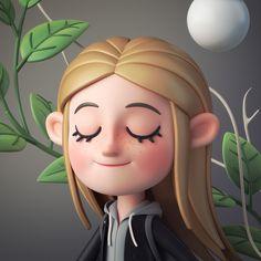 ArtStation - Walking with my lovely pet, Alina Balgimbaeva Zbrush Character, 3d Model Character, Character Modeling, Character Art, Character Sheet, Blender 3d, Character Design Cartoon, Character Design Animation, 3d Animation