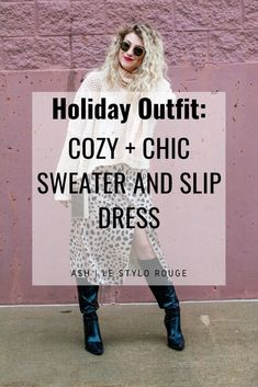 A Glam + Cozy Holiday Outfit with KC Homes & Style. | Le Stylo Rouge