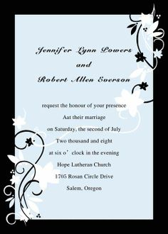 Blue Wedding Invitations Cheap At Elegant Wedding Invites   - Part 4