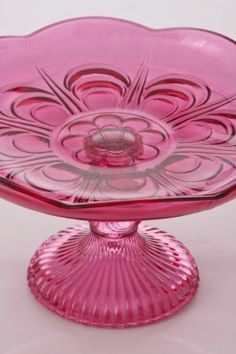 cranberry pink cake plate @Linda Stalvey Saw this and thought of you.