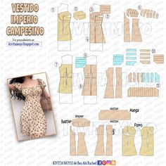 Diy Clothes Patterns, Dress Sewing Patterns, Sewing Clothes, Fashion Sewing, Diy Fashion, Fashion Outfits, Creation Couture, Vestidos Vintage, Clothing Hacks