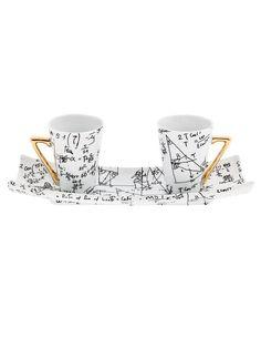 Fornasetti china tray and mug set