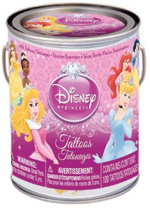 Bucket of more than 100 Disney Princess temporary tattoos - $7.99. What little girl wouldn't love this as a Valentine's Day gift? #valentinesday #temporarytattoos