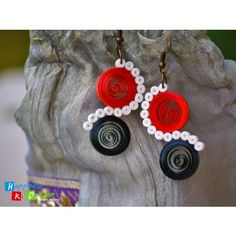 Colour Fusion Quilled Multicolour Earrings.  Buy from www.craftsvilla.com