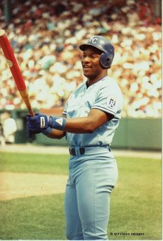 """Bo"" Jackson - a retired American baseball and football player. He is the ONLY athlete to be named an All-Star in two major American sports! He was named the greatest athlete of all time by ESPN. Royals Baseball, Sports Baseball, Baseball Players, Bo Jackson, Raiders, Dodgers, Mlb, American Football, American Sports"